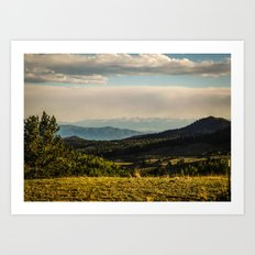 The Mountains Are Calling - Colorado Art Print