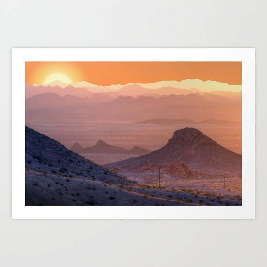 Mead Sunrise Art Print