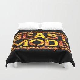 Beast Mode Fired Up Duvet Cover