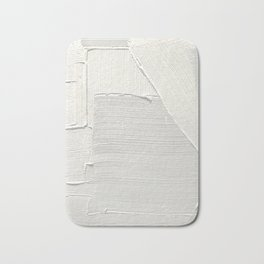 Relief [2]: an abstract, textured piece in white by Alyssa Hamilton Art Bath Mat
