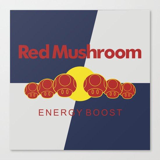 Red Mushroom Energy Boost Canvas Print