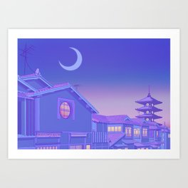 Kyoto Twilight Art Print