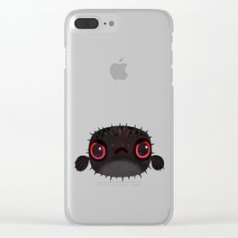 Angry puffer Clear iPhone Case