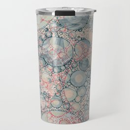 Vintage Bubble Cell Pattern Abstract Travel Mug