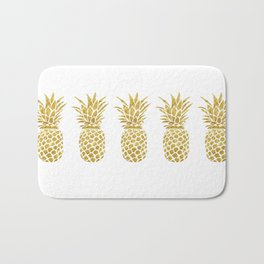 Golden Pineapple Bath Mat