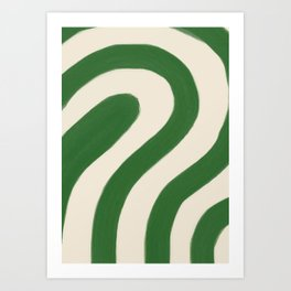 'Pathway'   Abstract art   Green   One color   Art Print