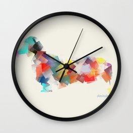 the dachshund mode Wall Clock