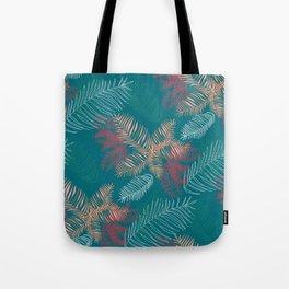Tropical Jungle - Teal Green Tote Bag
