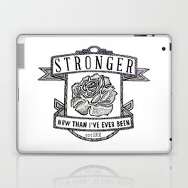 Stronger Quote Laptop & iPad Skin