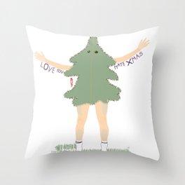 Xmas Tree Guy (Nils) Throw Pillow