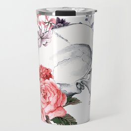 Roses Skull - Death's head Travel Mug