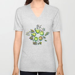 Summer's End - apples and pears Unisex V-Neck