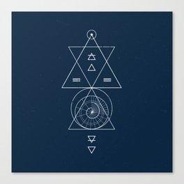 Espiral Triangle Blue Canvas Print