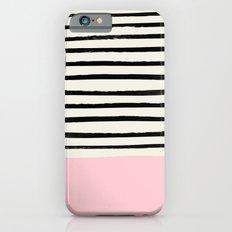 Millennial Pink x Stripes iPhone 6s Slim Case