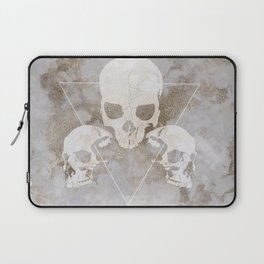 Marble Skulls Laptop Sleeve