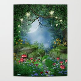 Enchanted Summer Night Poster