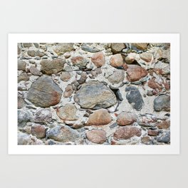 Old stone wall Art Print
