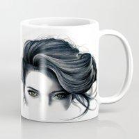 hair Mugs featuring Hair by KatePowellArt