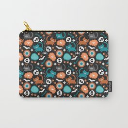 Funny Halloween pattern with kittens Carry-All Pouch