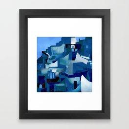 greece santorini abstract illustration Framed Art Print