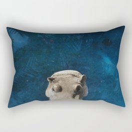 Hippo on the Tropic of Capricorn  Rectangular Pillow
