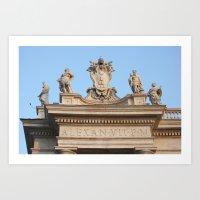 Papal Keys  Art Print