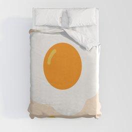 Egg orange Duvet Cover