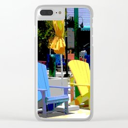Brightly Colored Chairs Clear iPhone Case