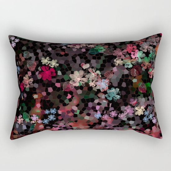 Flower mosaic Rectangular Pillow