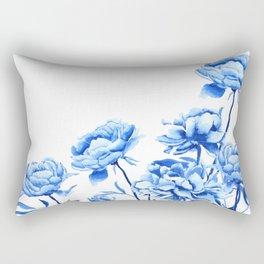 blue peonies 2 Rectangular Pillow