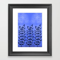 Blue Plant With Pointy Leaves Framed Art Print