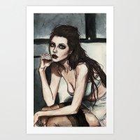 angelina jolie Art Prints featuring Angelina Jolie by vooce & kat