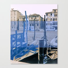 venice black and white and color Canvas Print