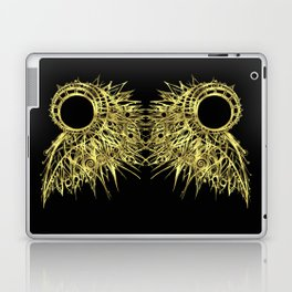 GOLDEN CURL - SHINING PAINTING ON BLACK BACKGROUND Laptop & iPad Skin