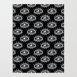 Eye of wisdom pattern - Black & White - Mix & Match with Simplicity of Life Poster