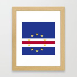 Cape Verde flag emblem Framed Art Print
