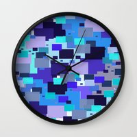 square Wall Clocks featuring square by sladja