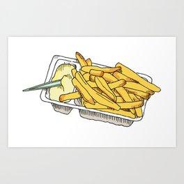 dutch fries Art Print