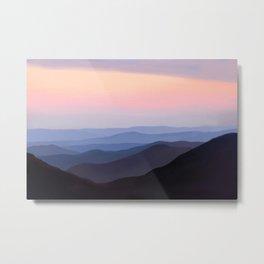 Breath Taking Blue Ridge Mountains Metal Print