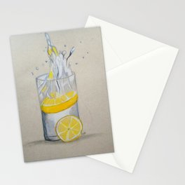 Lemon in water Stationery Cards