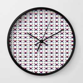 flag of south korea-korea,asia, 서울특별시,부산광역시, 한국,seoul Wall Clock