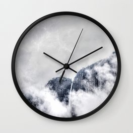 Fog and clouds Wall Clock