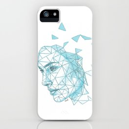 Gal Gadot Fracture Drawing iPhone Case