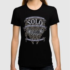 Solo Smuggling Black Womens Fitted Tee MEDIUM