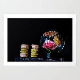 Flower Globe and Macarons Art Print