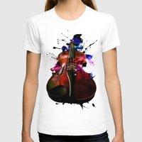violin T-shirts featuring violin nebula by seb mcnulty