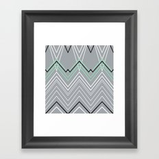 Mint Grey Chevy Framed Art Print