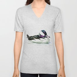 Bufflehead Duck Unisex V-Neck