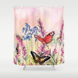 Wild meadow butterflies Shower Curtain