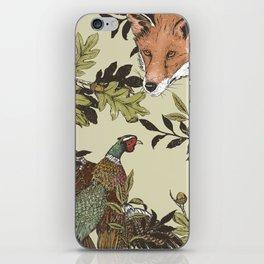 Fox & Pheasant iPhone Skin